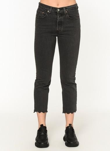 Levi's® 362000107 501 Crop Lady Yüksek Bel Slim Kısa Kadın Jean Pantalon Siyah